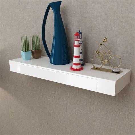 mensole con cassetto articoli per mensola per pareti con cassetto bianco mdf