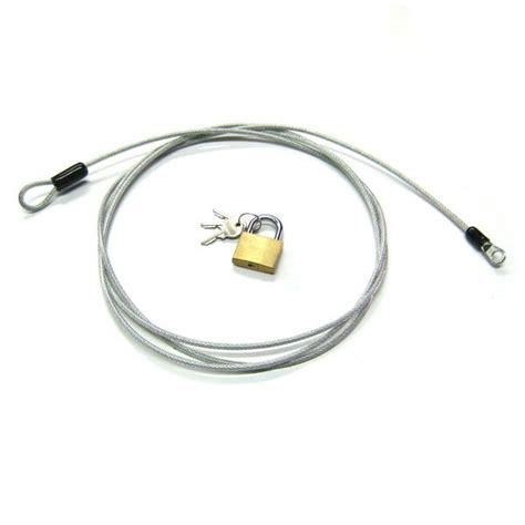 cable antivol gaine 230cm pour porte bagages et housses de