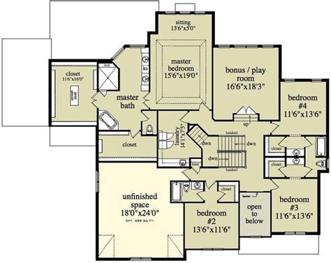 2 Story Home Floor Plans Beautiful Two Story Colonial House Plan Alp 096n