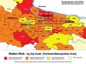 radon map oregon portland oregon radon map 2013 real estate pdx