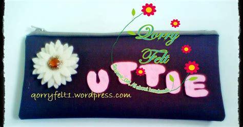 Tempat Pensil Gulung Handmade Unik 14 pouch dompet tempat pensil aplikasi flanel pake nama