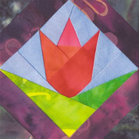 Tulip Quilt Pattern Block by Framed Tulip Quilt Block Pattern