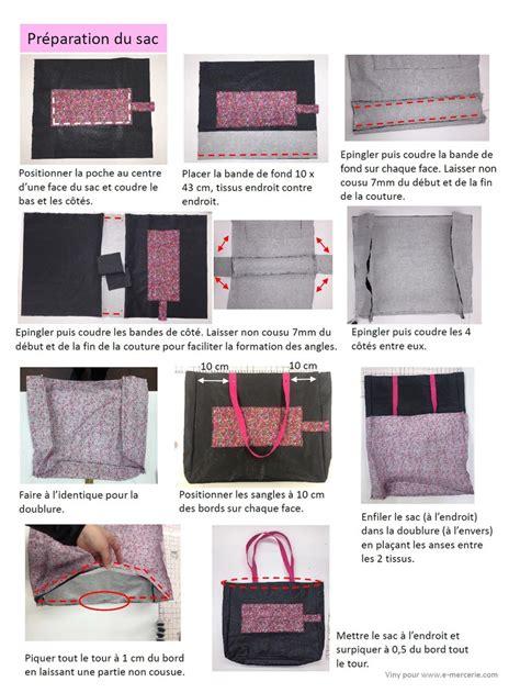 Faire Un Sac En Couture by Tuto Couture Sac Pliable Viny Diy Le De Tutoriels