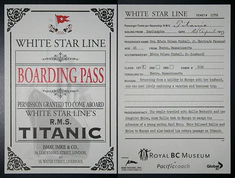 printable titanic boarding pass template the maiden s court titanic sets sail