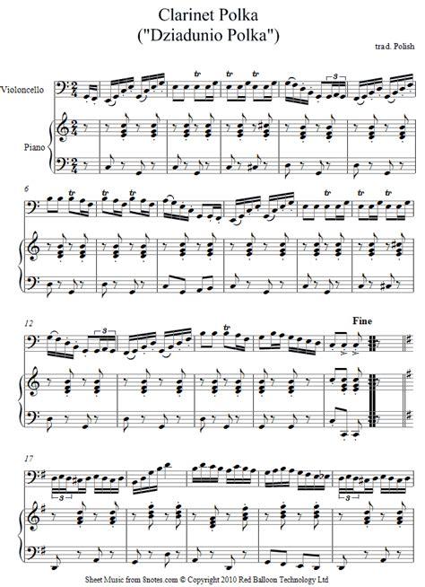 Violine Polka cello clarinet polka sheet 8notes