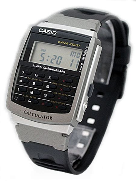 Jam Tangan Calculator casio jam tangan pria calculator ca 56 1ur hitam lazada