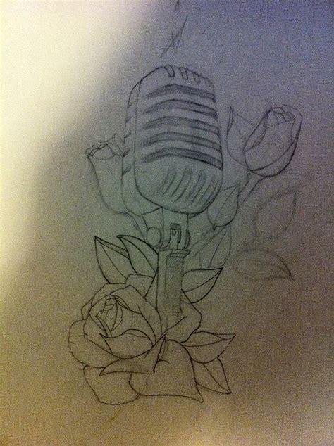 microphone tattoo sketch microphone tattoo sketch wip by carlhenrik on deviantart