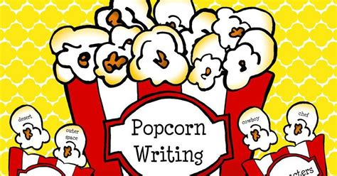 popcorn writing paper apples to applique popcorn writing