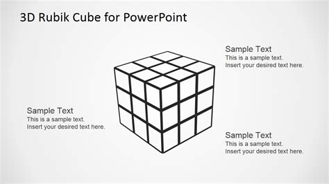 powerpoint cube template transparent rubik s cube silhouette powerpoint shape