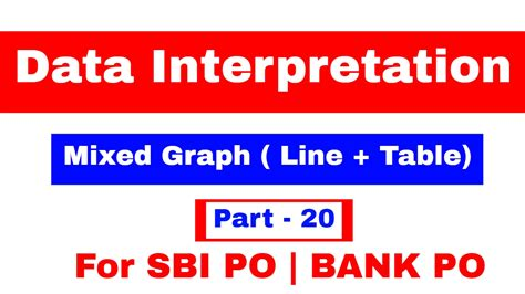 Data Interpretation Mixed Graph Line Table For Sbi Po