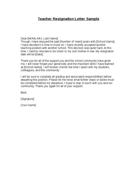 formal resignation letter example resignletter org