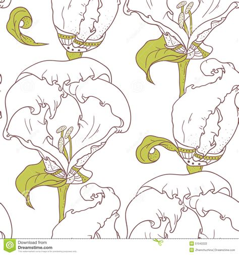seamless pattern by hand hand drawn abstract seamless pattern with flowers cartoon