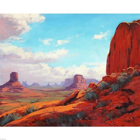 Landscape Photos Ebay Desert Painting Arizona Utah Monument Valley Landscape