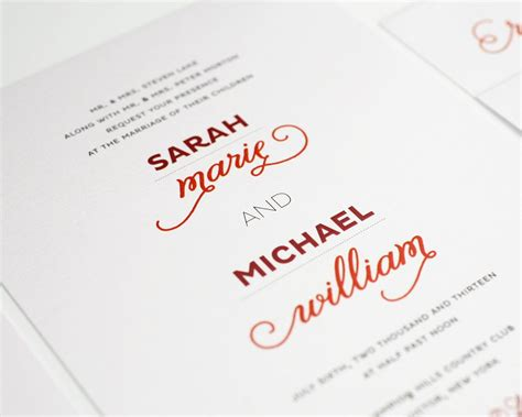 Modern Wedding Invitations by Modern Whimsy Wedding Invitations Wedding Invitations By