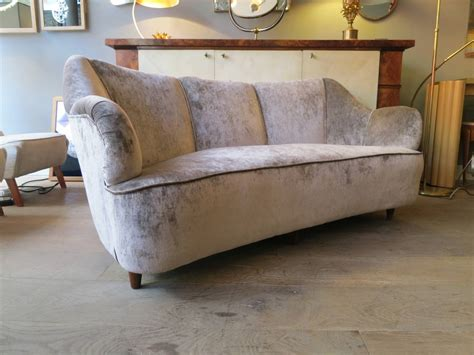 curved sofa set italian 1950s salon suite with curved sofa and armchair