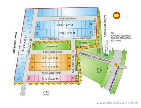 layout plan of new ashok nagar geet ganesh villas ayodhya nagar bhopal propertywala com