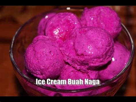 membuat ice cream buah membuat ice cream buah naga enak lembut dan mudah sekali