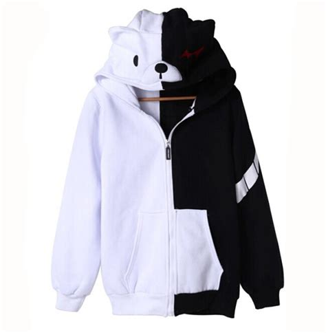 Anime Hoodie by Anime Dangan Ronpa Monokuma Unisex Clothing Casual