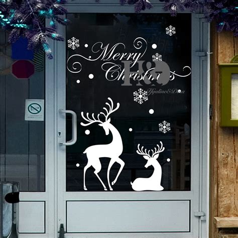 Window Decals Christmas by Christmas Reindeer Mural Removable Wall Sticker Decal Home