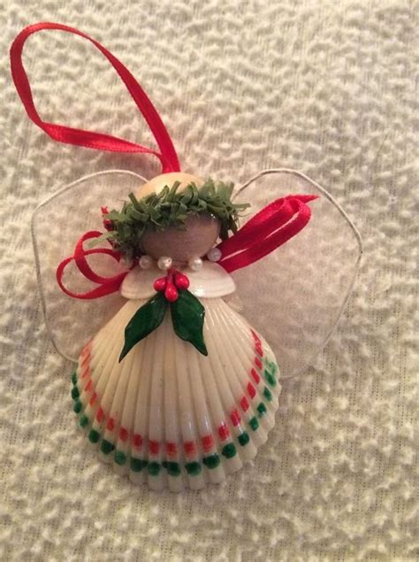 Handmade Santa Ornaments - shell handmade ornament