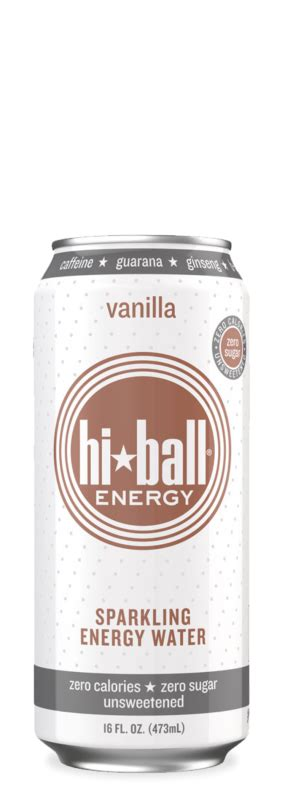 hiball energy water hiball sparkling energy water vanilla bill s distributing