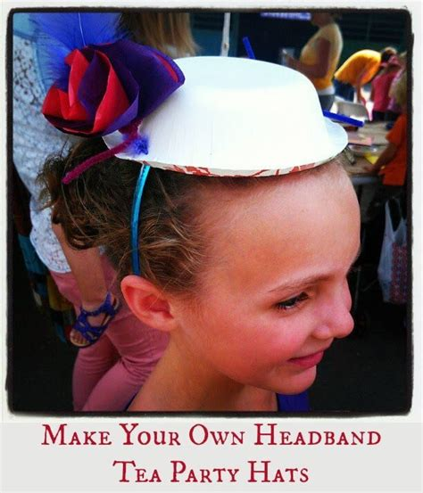 how to throw your own kids birthday parties at home momof6 make your own headband tea party hats kids craft best