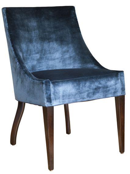 Blue Velvet Dining Chairs Coco Dining Chair Bespoke Furniture And Velvet