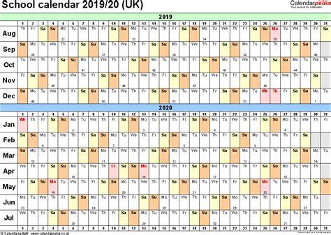 Calendar 2019 Pdf School Calendars 2019 2020 As Free Printable Pdf Templates