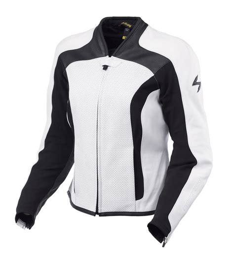 white motorbike jacket scorpion exowear dynasty s leather motorcycle jacket