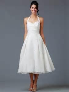 a line tea length wedding dresses pictures ideas guide