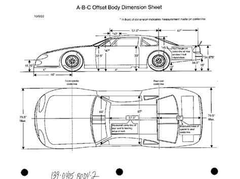asphalt stock car body dimensions images frompo