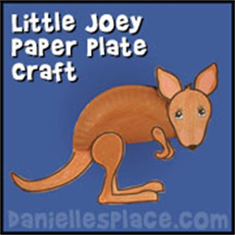 Kangaroo Paper Craft - paper plate crafts for