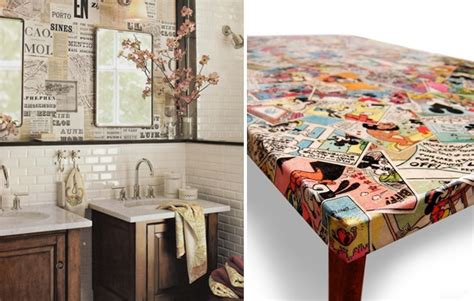 Decoupage Wall Ideas - decoupage on walls and furniture perhaps a decoupaged