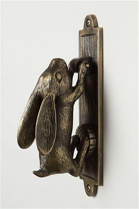 Swinging Hare Door Knocker Anthropologie Com Front Door Knobs And Knockers