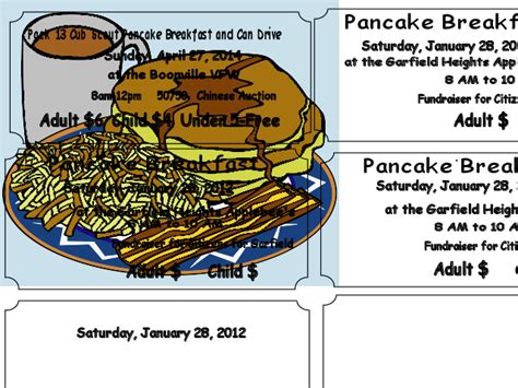 pancake breakfast ticket template pancake breakfast clipart dothuytinh