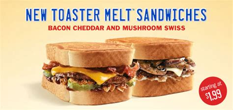 Sonic Toaster Sandwiches New Toaster Melt Sandwiches At Sonic Drive In