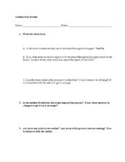 Process Analysis Essay Outline by Teaching Worksheets Writing Essays