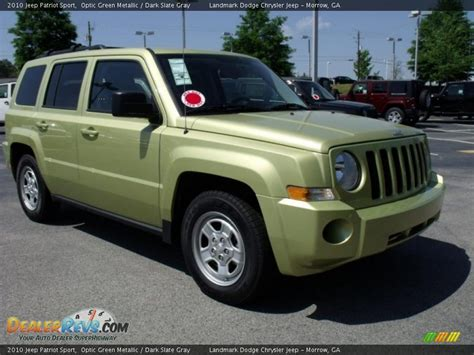 green jeep patriot 2010 jeep patriot sport optic green metallic slate
