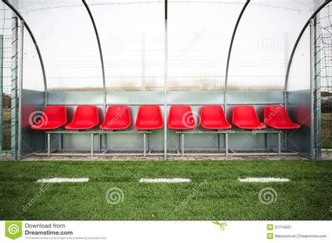bench soccer soccer bench stock image image 37714921