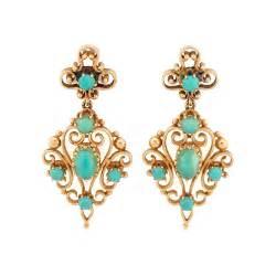 gold earrings images style turquoise 14k gold drop earrings cleo walker vintage estate jewelry