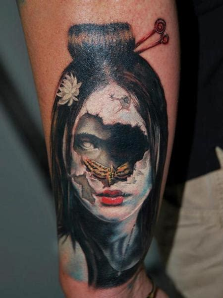evil geisha tattoo off the map tattoo evil zombie tattoos page 1
