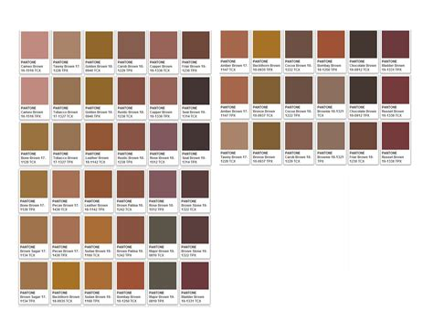 pantone brown browns october sky