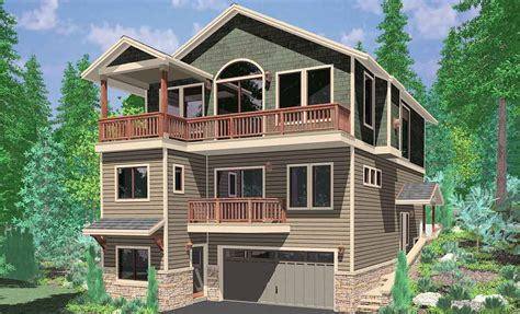 House Plans For A View by 3 Story Craftsman House Plans Unique Front View House