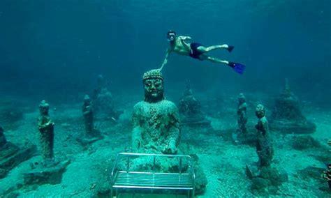 speed boat ke nusa penida dari sanur budha temple di nusa penida tujuan diving dan snorkeling