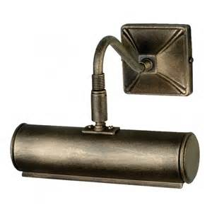picture of lights elstead lighting 190mm black and gold picture light at