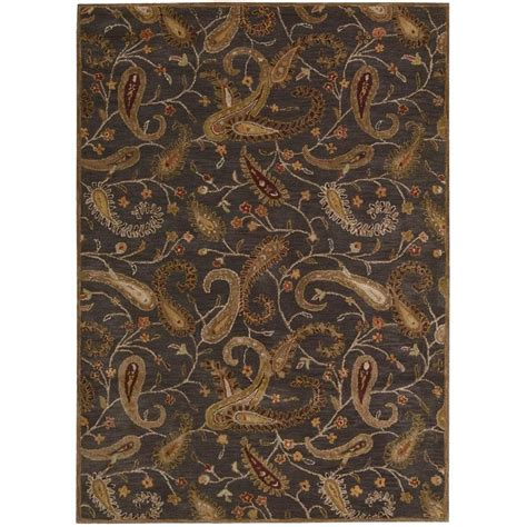 Area Rugs Overstock Nourison Overstock Firenze Charcoal 8 Ft X 11 Ft Area Rug 089267 The Home Depot