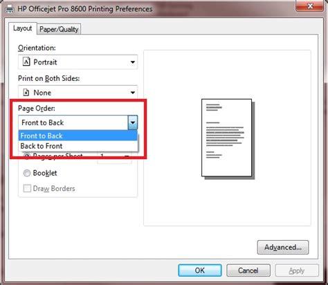 hp alm microsoft excel add in hewlett packard enterprise solved officejet 8600 reverse print order windows 7