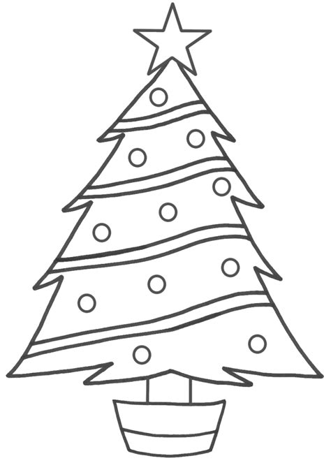 Images and information simple christmas tree drawing black and white