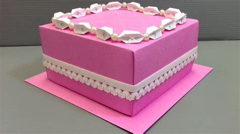 Origami Birthday Box - origami wedding birthday cake display gift box