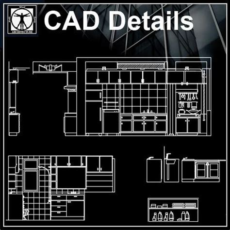 kitchen elevation cad design  cad blocksdrawings